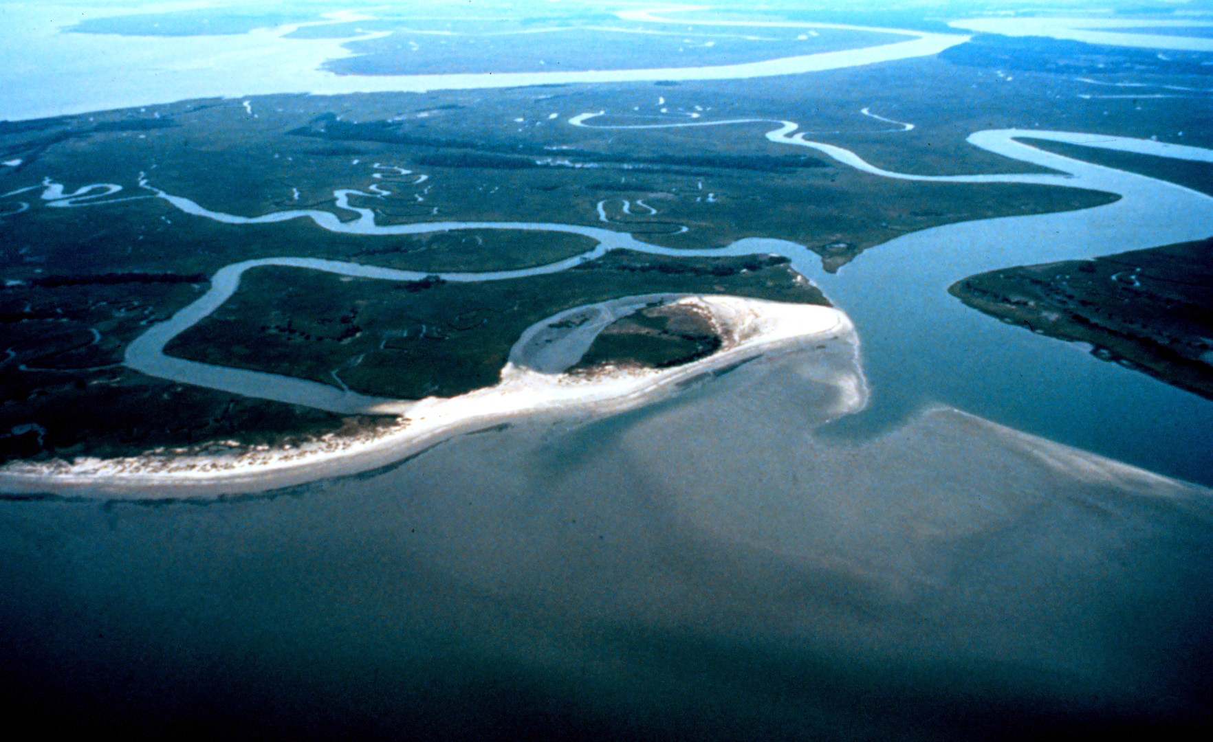 Aerial view of the ACE Basin National Estuarine Research Reserve. NOAA.
