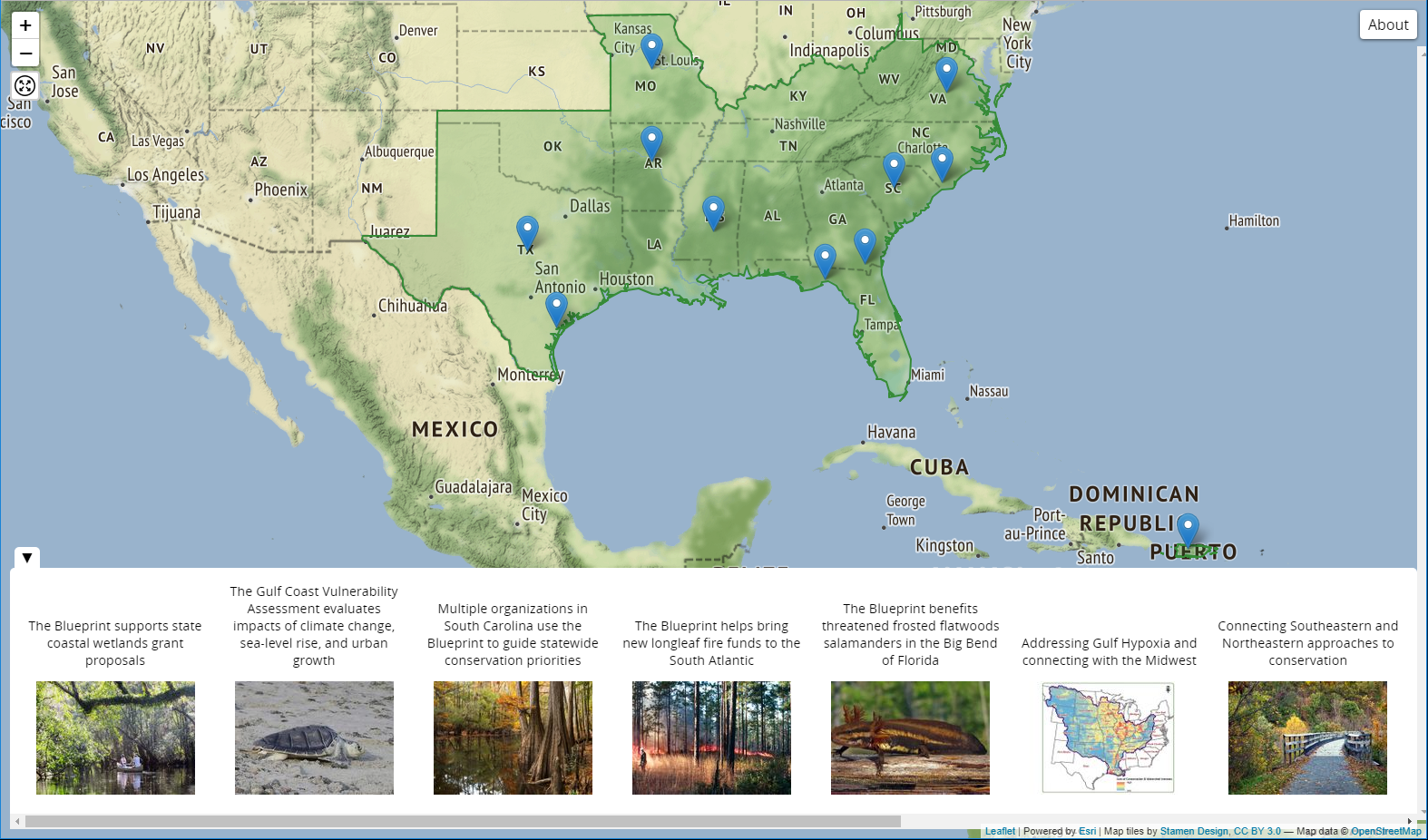 Updated Story Map For The Southeast Conservation Adaptation Strategy