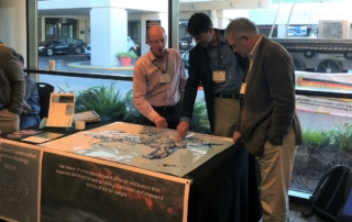 Mallory reviews the draft of Southeast Blueprint 4.0 with Gordon Myers (Executive Director of the NC Wildlife Resources Commission) and Ed Carter (Executive Director - TN Wildlife Resources Agency)